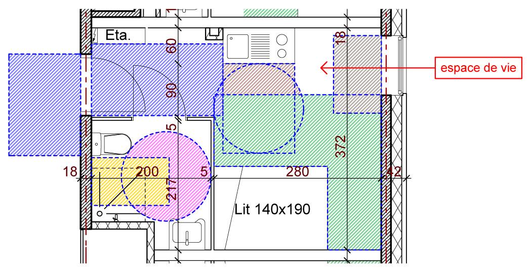 plan appartement pmr. Black Bedroom Furniture Sets. Home Design Ideas
