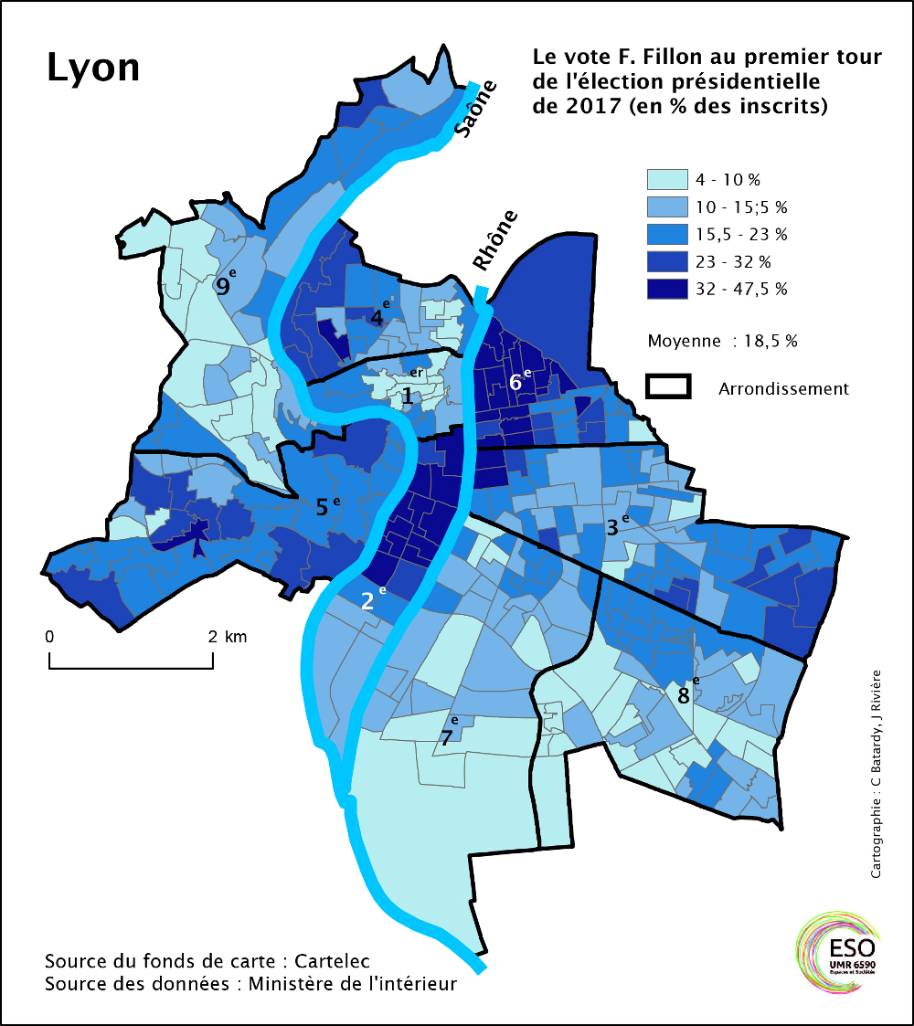 Lyon Une Ville Centriste Toujours A Droite Metropolitiques