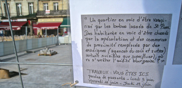 A notice spotted in the Saint-Michel district of Bordeaux. Photo © Mathieu (...)